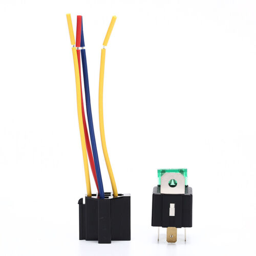 Waterproof Prewired 5Pin Car Relay Harness Holders 40A//12V With Relay Socket  Tc