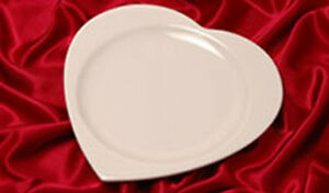 Heart Shaped Dinner Plates Platters (Set of 12) Syracuse China ...