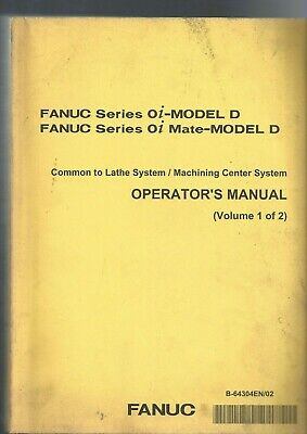 Liberaal Fanuc 0i-model D 0i Mate-model D Operator's Manual 1 Of 2 Kwaliteit En Kwantiteit Verzekerd