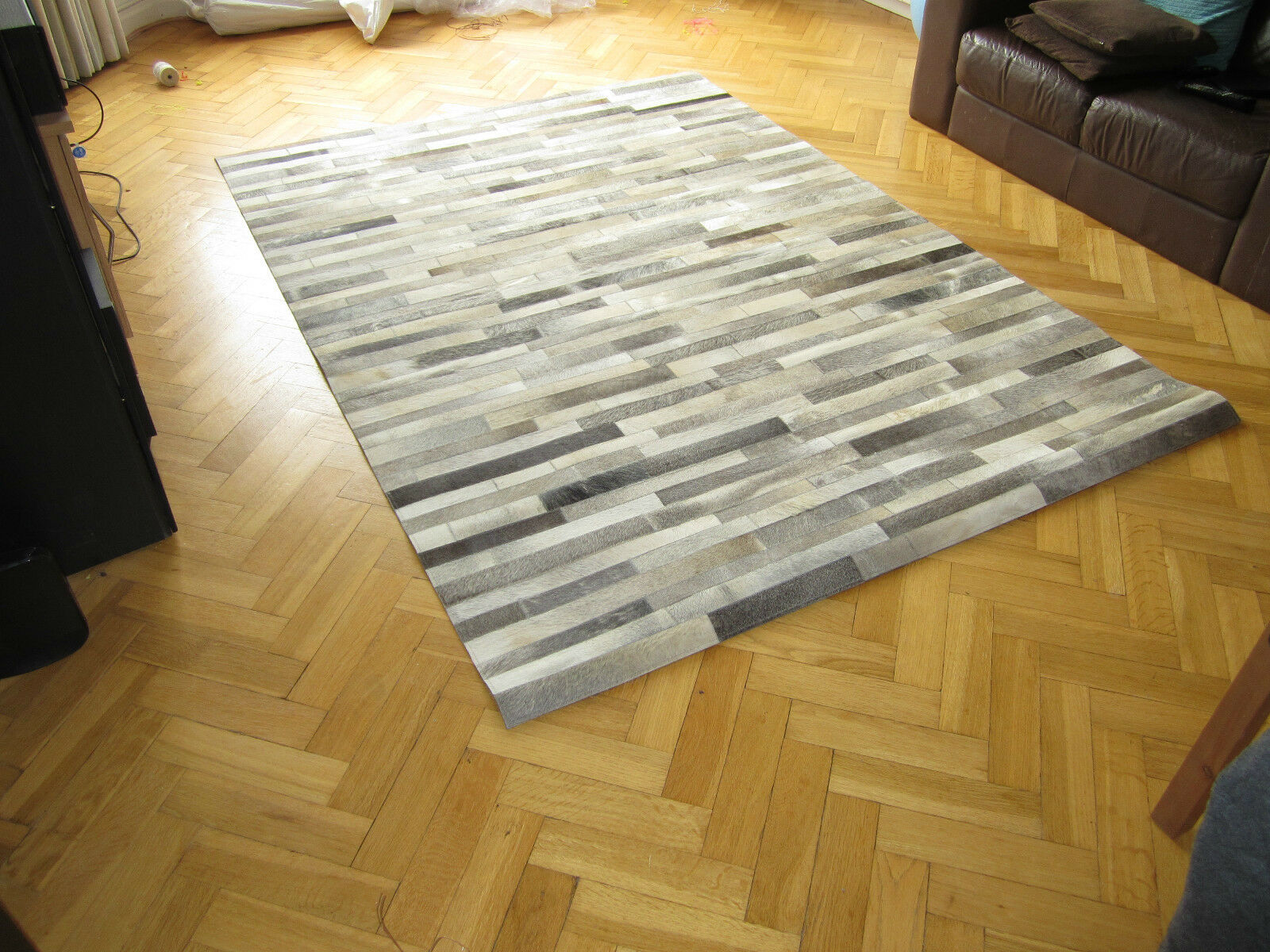 Patchwork Hairon Leather Rugs Cowhide Handmade Designer Luxury Home Home Home Carpets New 060c72