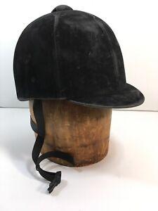 International-Horse-Riding-Helmet-Black-Velvet-Medalist-1068-Size-7-1-8-SEI