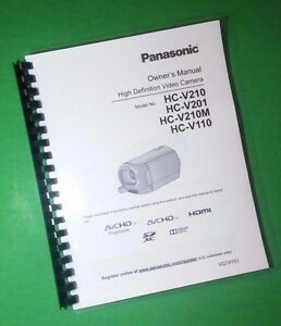 laser printed panasonic hcv110 hcv201 video camera 120 page owners rh ebay com Panasonic Owner's Manual Panasonic.comsupportbycncompass