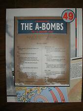 IMAGES OF WAR WWII CAMPAIGN MAP THE ATOM BOMBS HIROSHIMA & NAGASAKI