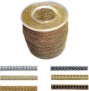 25m Kordel 3mm 6 Farben Schnur LUREX silber gold Farbvarianten schimmernd GLANZ