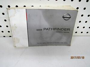 2008-Nissan-Pathfinder-Owners-Manual-FREE-SHIPPING