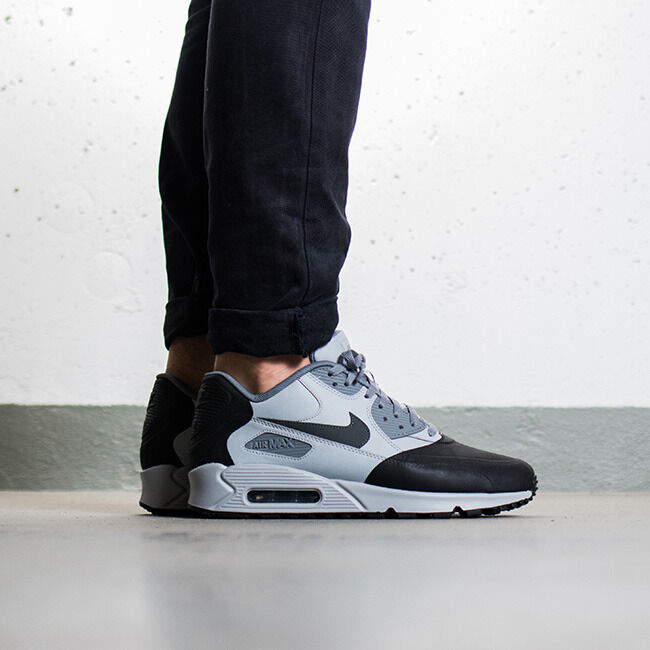 Nike Air Max 90 Premium SE Wolf Grey AnthraciteCoolGrey 858954-001 Men's Sz 13