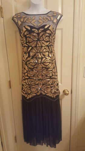 Black & Gold Sequin Formal Party Dress. Sz. XL