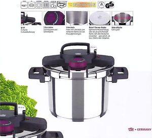 schnellkochtopf 6ltr easyclick edelstahl kochtopf topf von gsw 822091 ebay. Black Bedroom Furniture Sets. Home Design Ideas