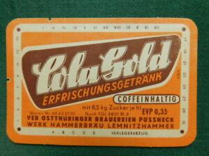 Pössneck - Lemnitzhammer - COLA Gold - Limonade Etiketten Alt - Deutschland