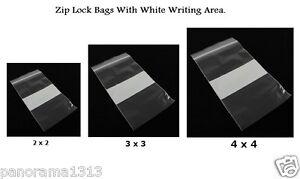 2 x 2 Zip Lock Bags Resealable Bags Crafts Jewelry Coins Parts Plastic Ziplock