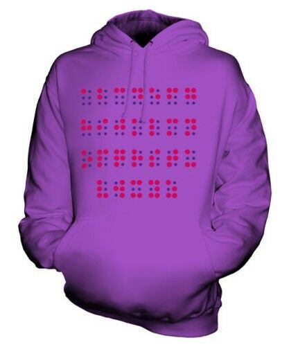 BRAILLE ALPHABET UNISEX HOODIE TOP GIFT LETTERS UNIQUE
