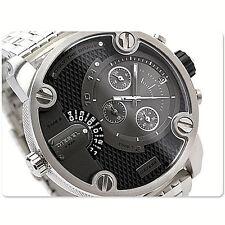 NWT Diesel Men Watch Silver Stainless Bracelet 50MM SBA LITTLE DADDY DZ7259 $295