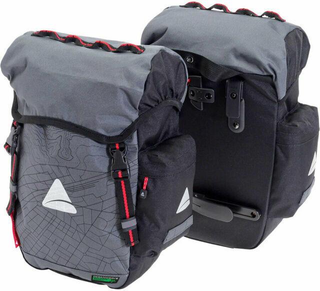 Axiom Seymour Oceanweave P55 Bike Panniers Pair Commuter Bags Touring Saddlebag