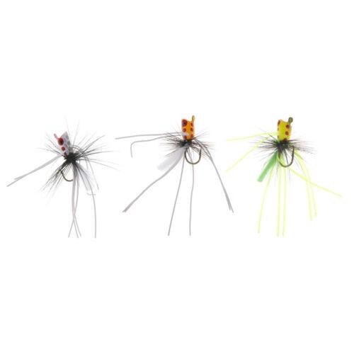 Popper Flies Fly Hook Trout Bass Bug Popper Fly Floating Fishing Flies
