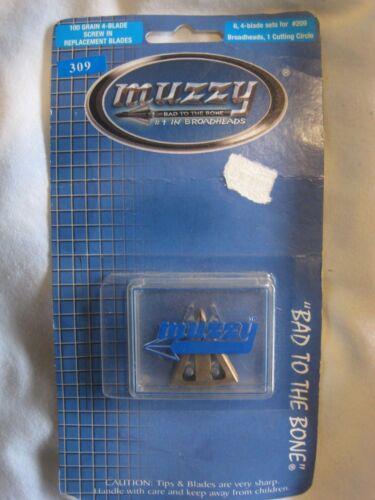 Muzzy Lames de remplacement modèle #309 pour vis 100 g-En 4 Blade Broadheads