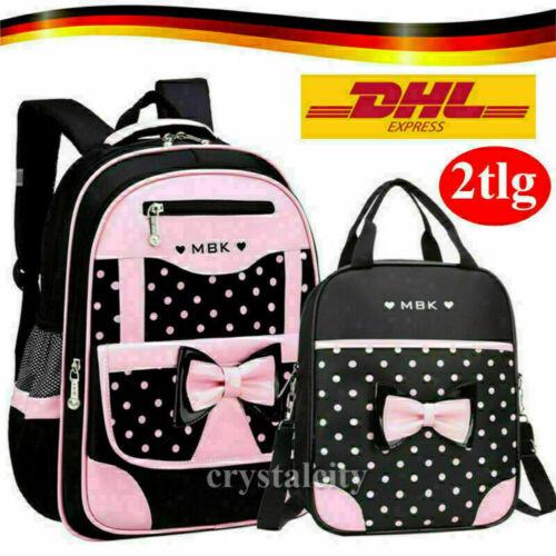 Mädchen Junge Schulrucksack SCHLEIFE Bär Schulranzen Kinder Rucksack Handtasche