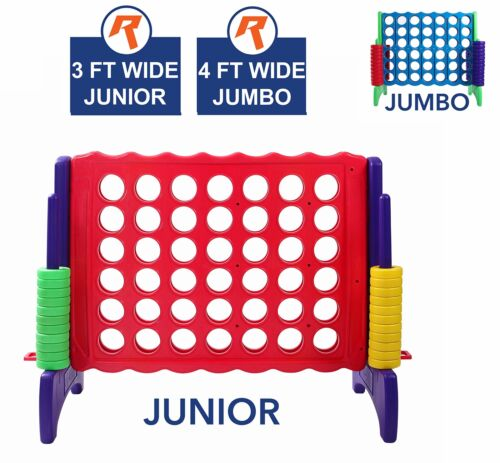 Giant 4 in A Row, 4 to Score - Premium Plastic Four Connect Game JUNIOR 3 Foot