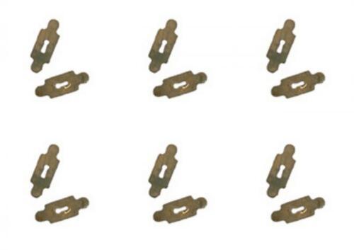Casa De Muñecas 12 placas de clave de latón chapado en oro en miniatura 1:12 Puerta Cajón Muebles