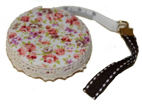 PRETTY CLOTH COVERED CRAFT RETRACTABLE TAPE MEASURES  IMPERIAL//METRIC