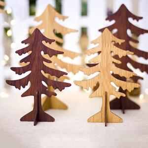 Details About Wooden Mini Christmas Tree Desktop Stand Ornaments Diy Xmas Decoration Gifts