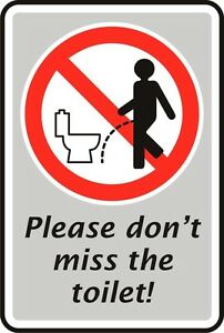 please don't miss the toilet loo bathroom sticker decal