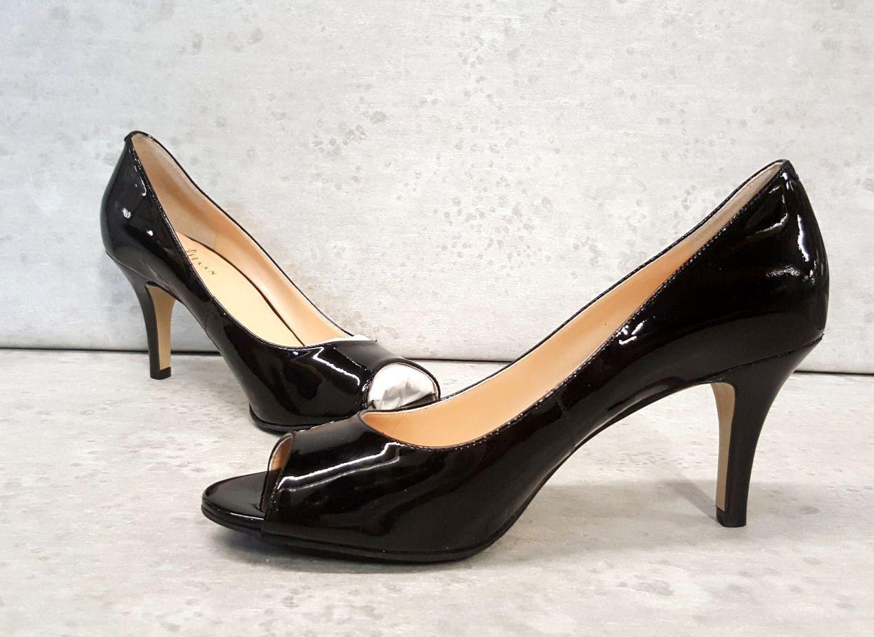 Cole Haan Air Lainey Black Patent Pumps open toe toe toe OT sz 7 B FREE SHIP 29fc51