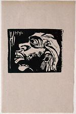 Hermann Max PECHSTEIN (1881-1955): Maske 1918, Holzschnitt WVZ Krüger H 212