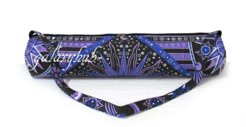 Indian Yoga Bag Gym Exercise Mat Carrier Purple Bags With Shoulder Strap Throw