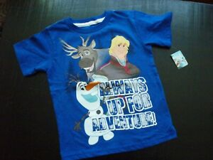 Disney-Frozen-034-Always-Up-For-Adventure-034-Blue-T-Shirt-Size-4T-NEW