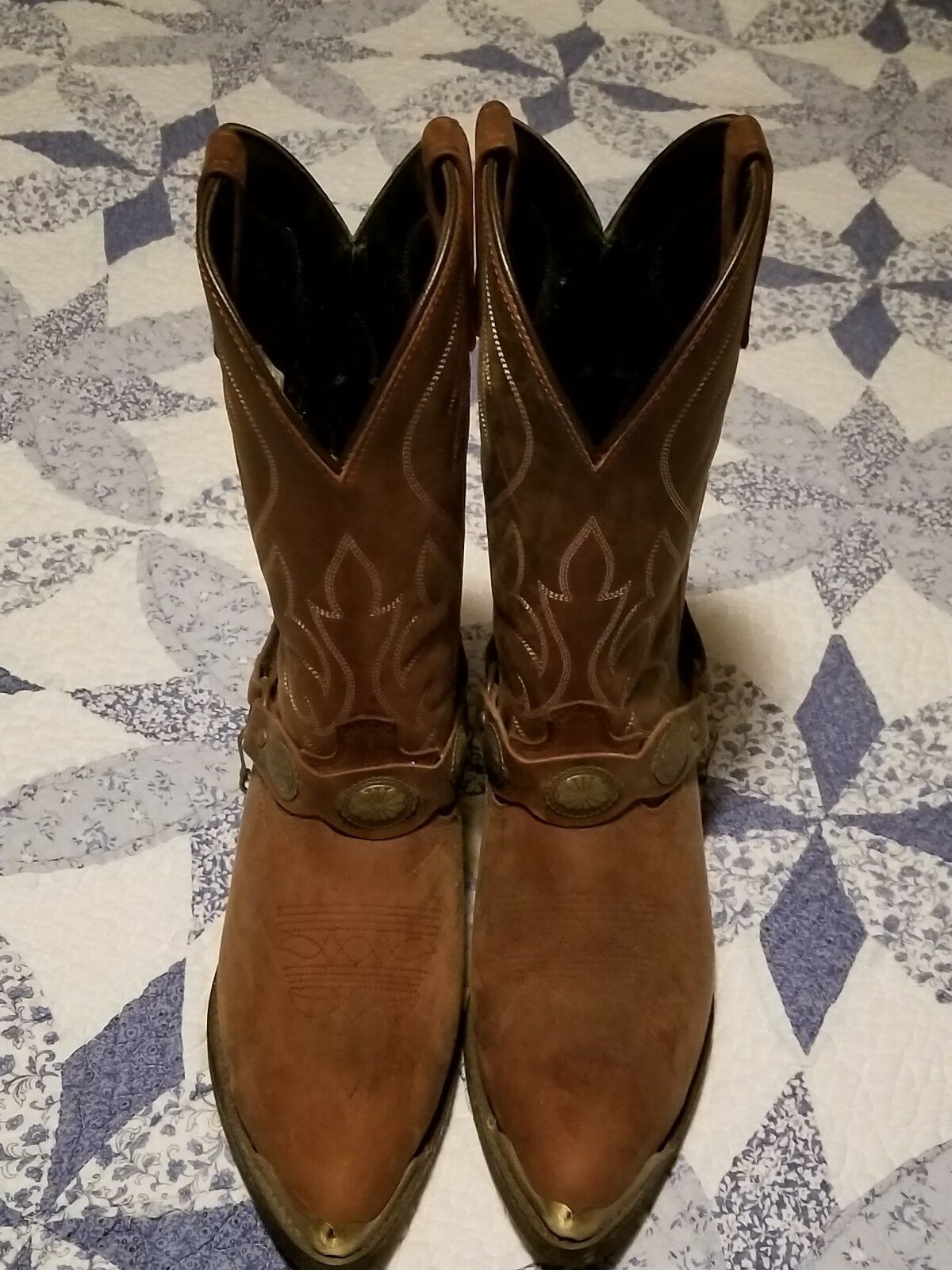 Masterson Mens Leather Cowboy Boots