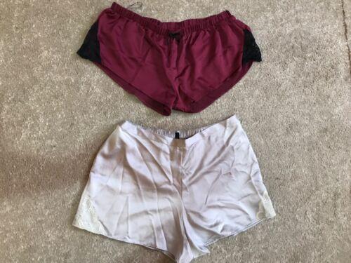 Femme lit pyjama short prune et argent Dentelle Tailles 8 12 20 entièrement neuf sans étiquette