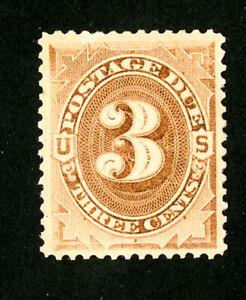 US-Stamps-J3-Superb-OG-H-Scott-Value-100-00