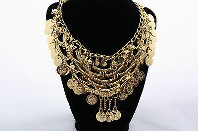 Collana Stile Indiano Danza Del Ventre Tribale Bollywood-accessori Oro Hk0065 Vincere Elogi Calorosi Dai Clienti