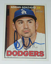 ADRIAN GONZALEZ SIGNED AUTO'D 2016 TOPPS HERITAGE CARD #38 LOS ANGELES DODGERS