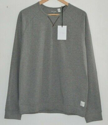 Ausdauernd Paul Smith Grey Cotton Jersey Lounge Long Sleeve Tshirt Top Crew Neck S M L Xl Strukturelle Behinderungen