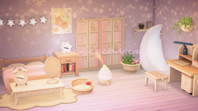 Acnh Cute Starry Bedroom Design Animal Crossing Ebay