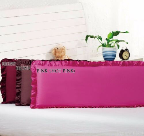 """8 Colors Body Pillow Ruffled Solid Cover Case Decorative 20/""""x54/""""+2"""