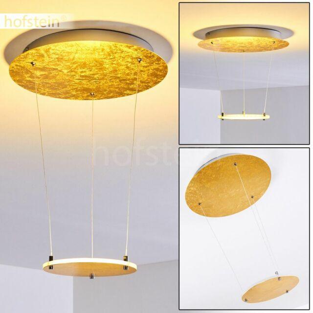 dimmbare LED Decken Lampen Design Flur Wohn Schlaf Zimmer Beleuchtung goldfarben
