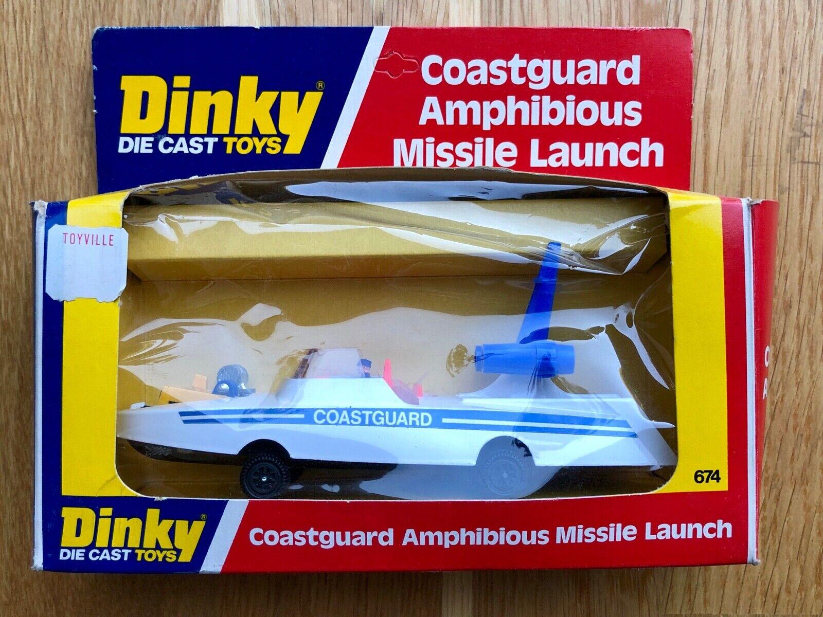 VINTAGE DINKY TOYS MODEL No.674 COASTGUARD AMPHIBIOUS MISSILE LAUNCH