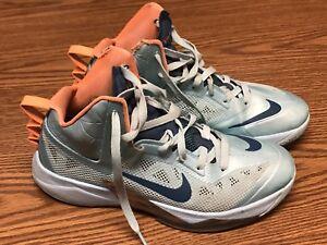 Nike-615896-401-Mens-Zoom-Hyperfuse-Teal-Blue-Orange-Basketball-Shoes-Sz-8