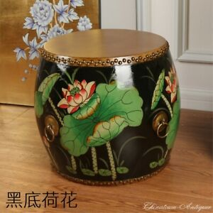 H-14-034-Tibet-Korean-Chinese-Buddhist-Temple-Cowhide-CowSkin-Drum-Painted-5229