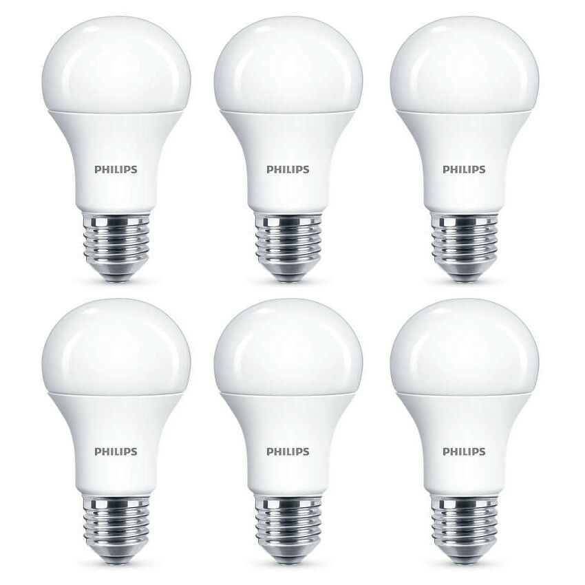 6x Philips LED Frosted E27 100w Warm Weiß Edison Screw Light Bulbs Lamp 1521lm