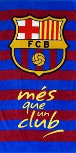 BARCELONA Serviette de Bain Drap de Plage Microfibre FC Barcelone Bar/ça Messi Suarez