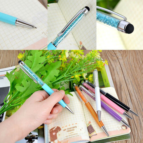 1 Stücke 2 in 1 Kristall Diamant Stylus Touch Pen Kugelschreiber