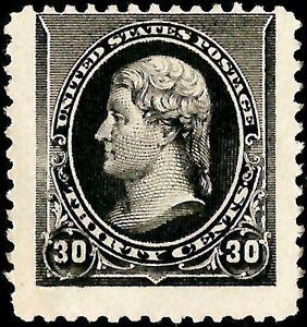 "Errors, Freaks, Oddities United States Us Sc# 228 *unused Ng Nh* { ""jumbo"" Freak } 30c Black Jefferson Of 1890 Series Exquisite Craftsmanship;"