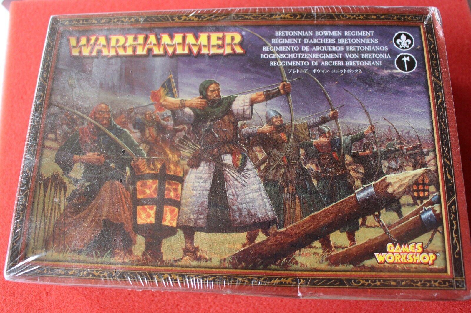 Juegos taller Warhammer BRETONNIAN BOWMEN Regimiento Nuevo Y En Caja Nuevos Modelos 16 GW