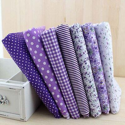 Wholesale Series 7 PCS Pre-Cut Plain Cotton Quilt cloths Fabrics for Sewing