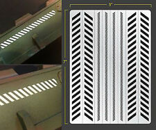 CAUTION STRIPES VINYL SELF ADHESIVE AIRBRUSH STENCIL WARGAMING FALLOUT HOBBIES
