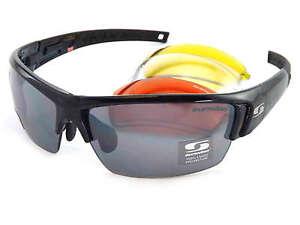 544946cd09 Image is loading SUNWISE-RX-Ready-ATLANTA-Sports-JET-Black-sunglasses-