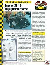 Jaguar XJ 13 V12 24 Heures du Mans 1967 United Kingdom GB Car Auto FICHE FRANCE